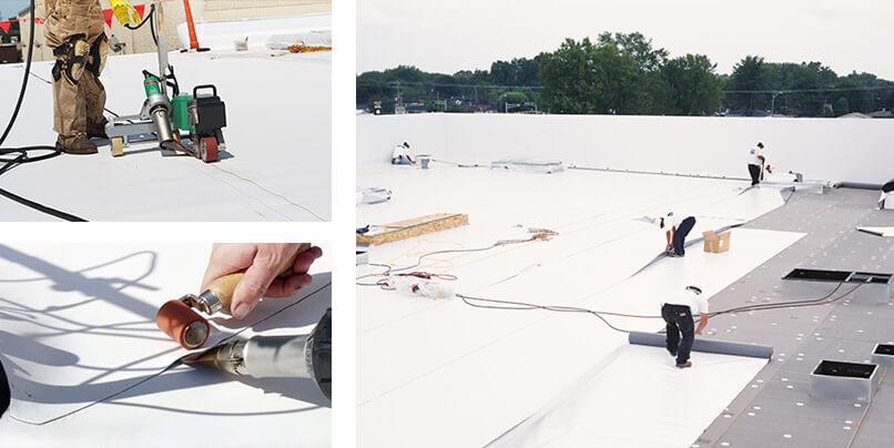tpo mechanical seam welding for commercial & industrial roofing